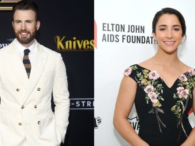 Chris Evans and Aly Raisman Link up for a Dog Playdate