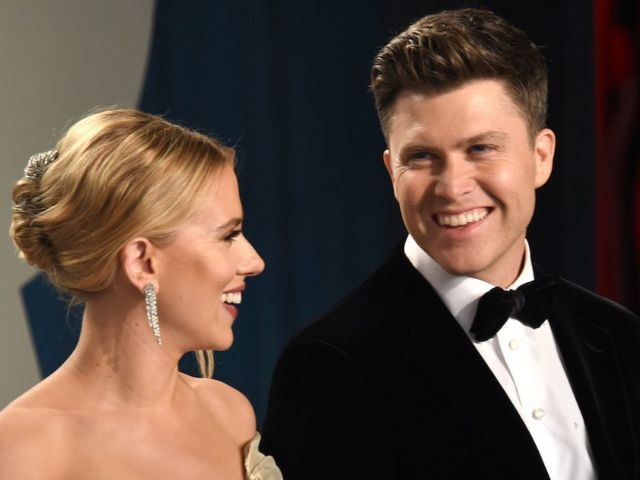 Colin Jost Debuts Wedding Ring During 'Weekend Update' on 'SNL' After Marrying Scarlett Johansson