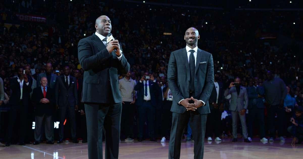 Magic Johnson Lakers Kobe Bryant very proud NBA championship