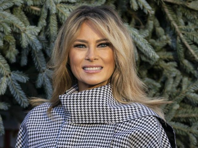 Melania Trump Removes Her Face Mask to Read to Patients at Children's Hospital