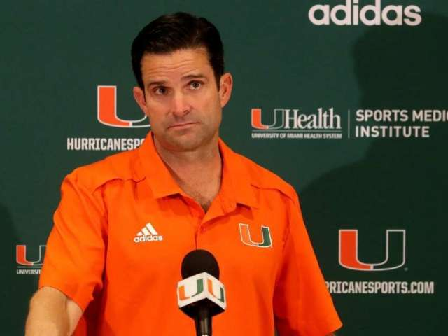 Miami Hurricanes Coach Manny Diaz Tests Positive for COVID-19