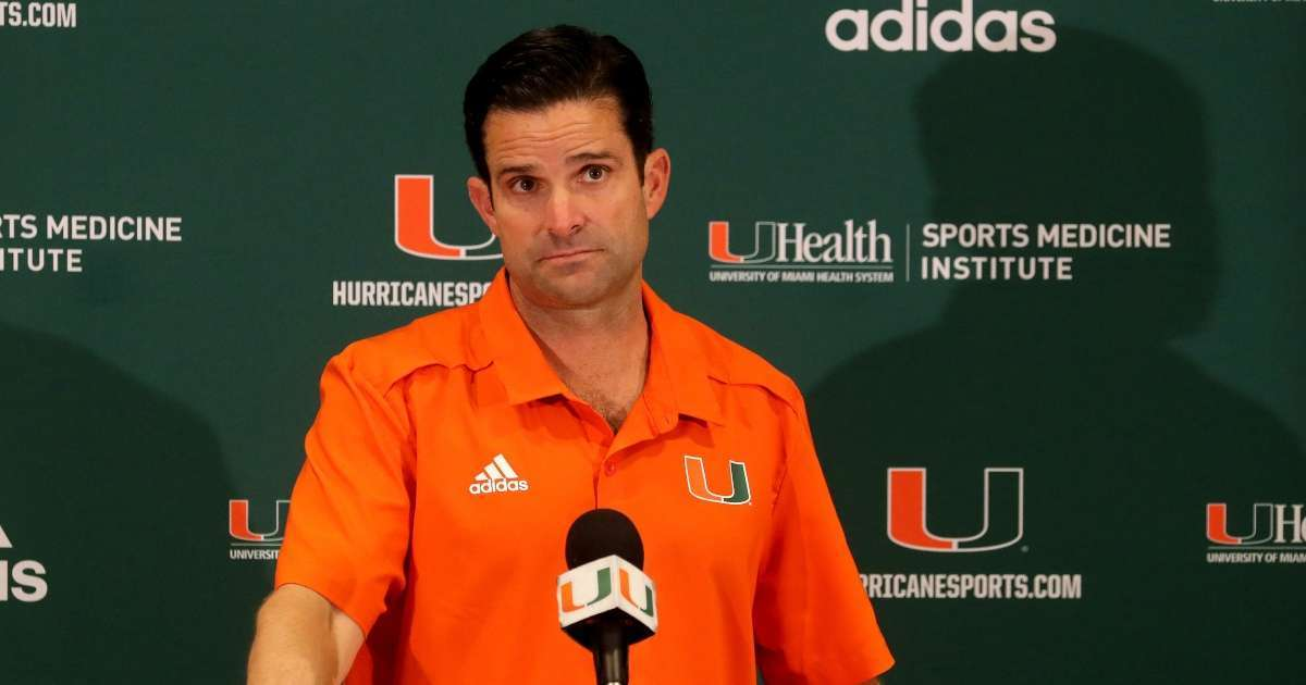 Miami Hurricanes coach Manny Diaz tests postitive COVID-19