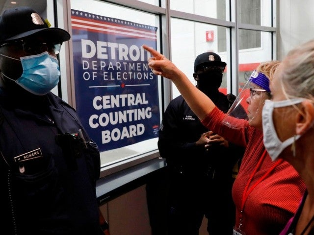 Watch: 'Stop the Count' Protesters Try to Force Themselves Inside Detroit Counting Facility