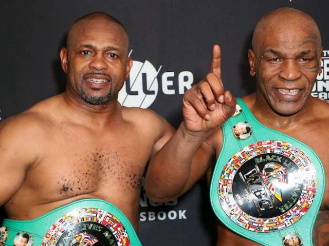 Mike Tyson and Roy Jones Jr. Boxing Match Ends in Draw