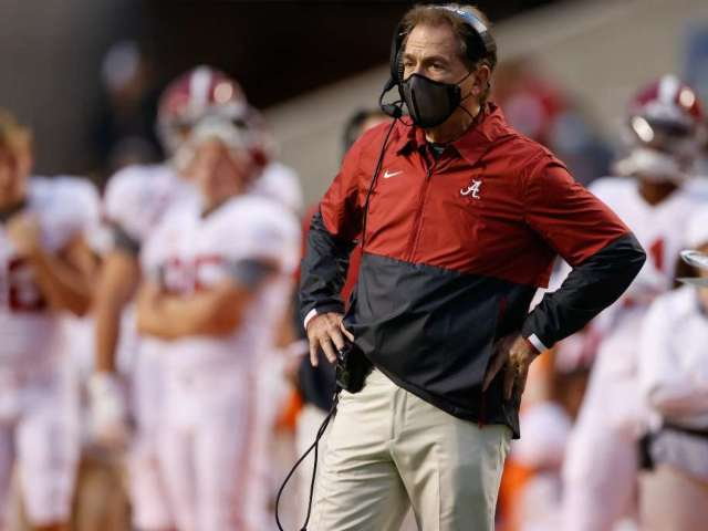 Nick Saban Tests Positive for COVID-19, Has 'Very Mild Symptoms'
