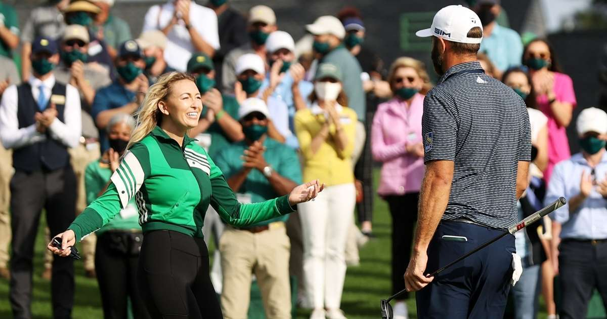 Paulina Gretzky Dustin Johnson biggest fan golf star Masters win