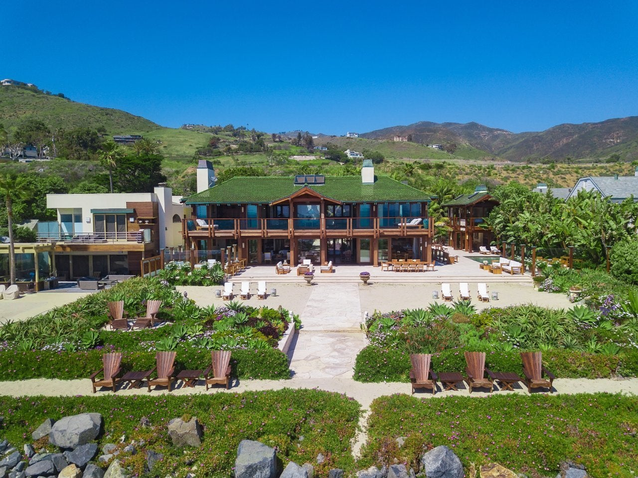 Pierce Brosnan Malibu Beach Orchid House 1