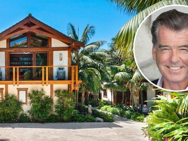 Peek Inside Pierce Bronson's $100M Tropical Malibu Beach House Mansion
