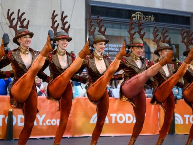Rockettes Promise Special Kickline at NBC's Christmas Tree Lighting