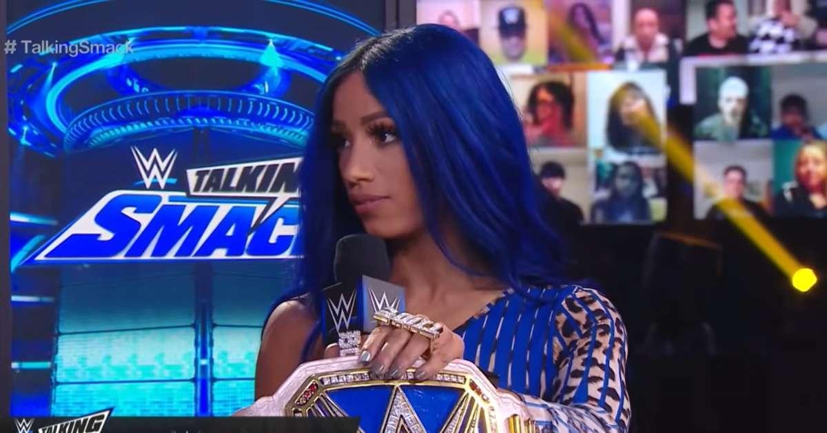 Sasha Banks stuns blue bandana inspired SmackDown outfit