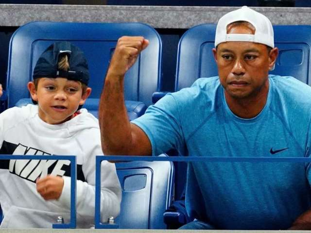 Tiger Woods to Team up With Son Charlie at PNC Championship