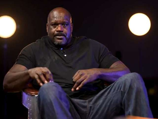 Shaquille O'Neal Gets Water Thrown in Face by Brandi Rhodes, and AEW Fans Are Rolling