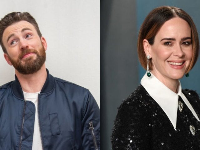 Chris Evans and Sarah Paulson Twin in 'Knives Out' and 'Run' Sweater Meme