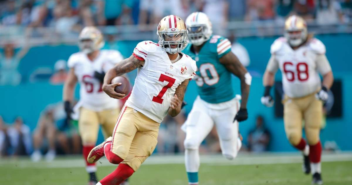 Colin Kaepernick debut jersey auctioned off record price