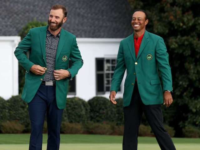 Tiger Woods and Dustin Johnson Join Forces for Epic Christmas Card