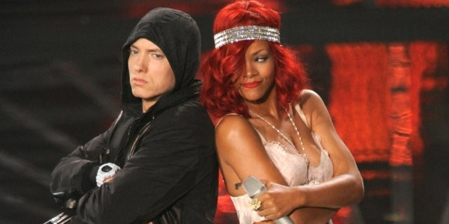 eminem rihanna getty images
