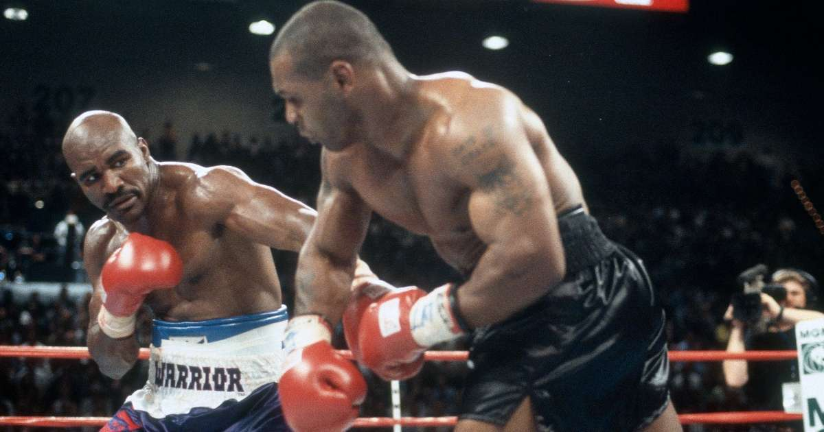Evander Holyfield issues challenge Mike Tyson