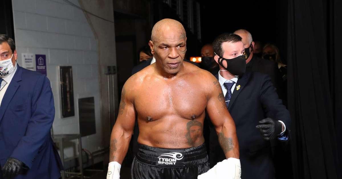 Fan attempted punch Mike Tyson after Roy Jones Jr fight