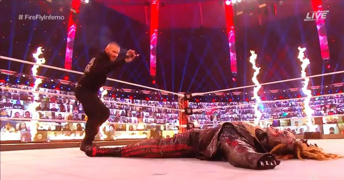 Randy Orton sets Bray Wyatt on Fire WWE TLC