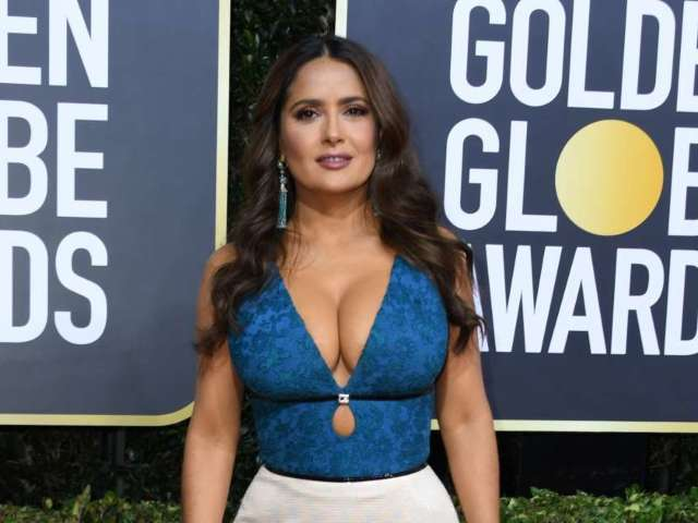 Salma Hayek Bids 2020 Farewell With Bright Magenta Bikini