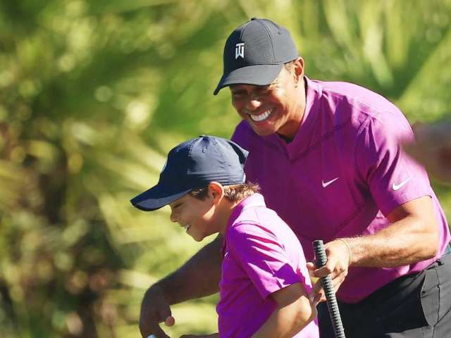 Tiger Woods: Fans in Awe of Golf Legend's Son, Charlie