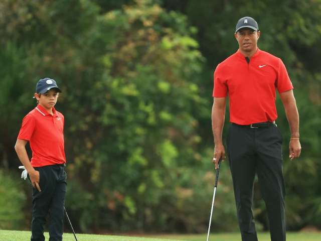 Tiger Woods' Son Perfectly Copies Him With Post-Putt Fist Pump