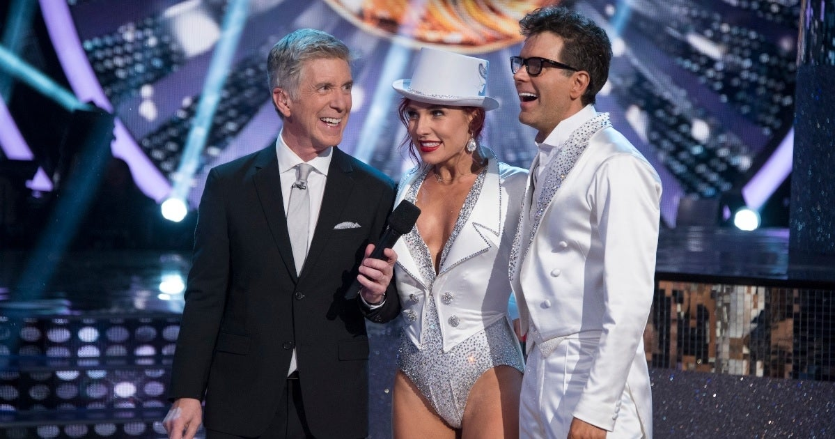 tom bergeron sharna burgess bobby bones dwts abc getty images
