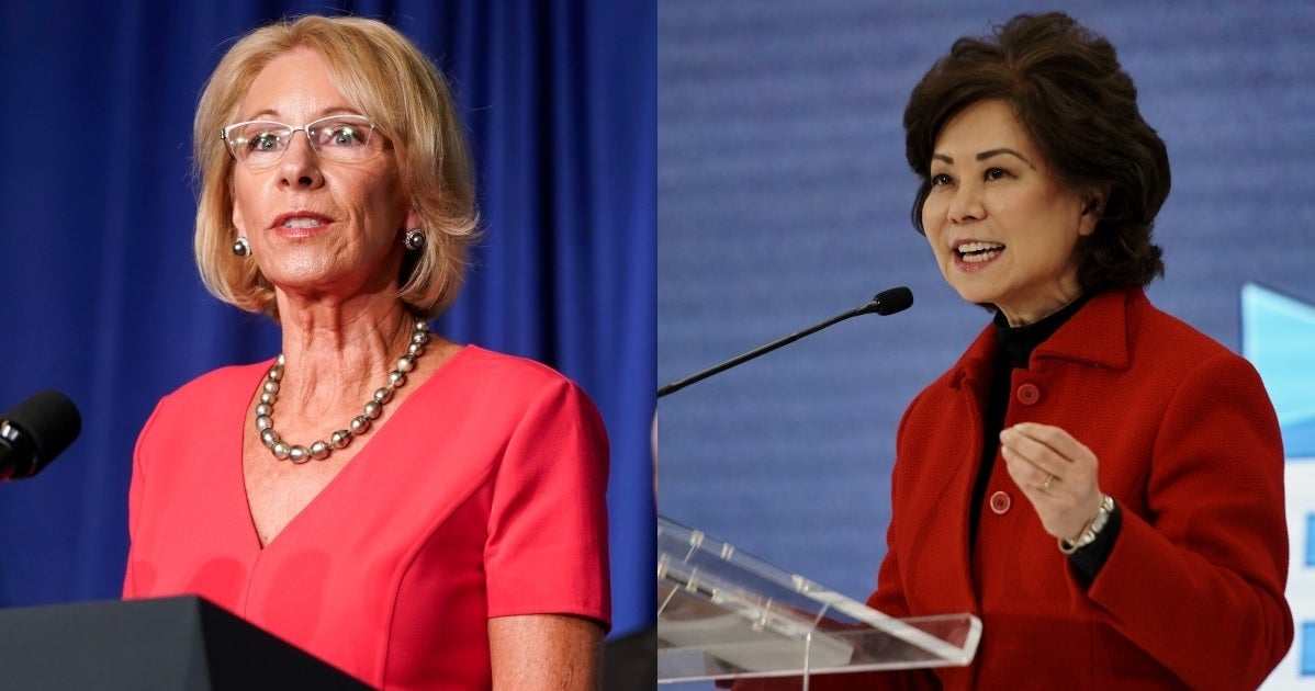 betsy devos elaine chao getty images
