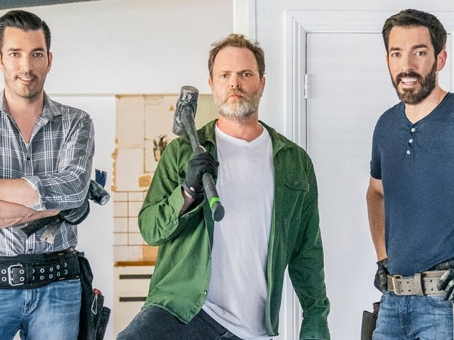 'Celebrity IOU': Rainn Wilson Brings out His Dwight Schrute to Demo With Drew and Jonathan Scott in Sneak Peek