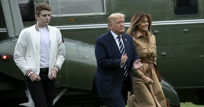 donald-trump-barron-melania-2020-Getty