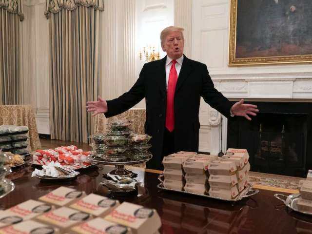 White House's Fast-Food Feast for Clemson Resurfaces, Inspires New Wave of Jokes