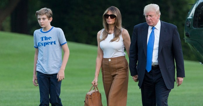 donald-trump-melania-barron-maison-blanche-2017-getty