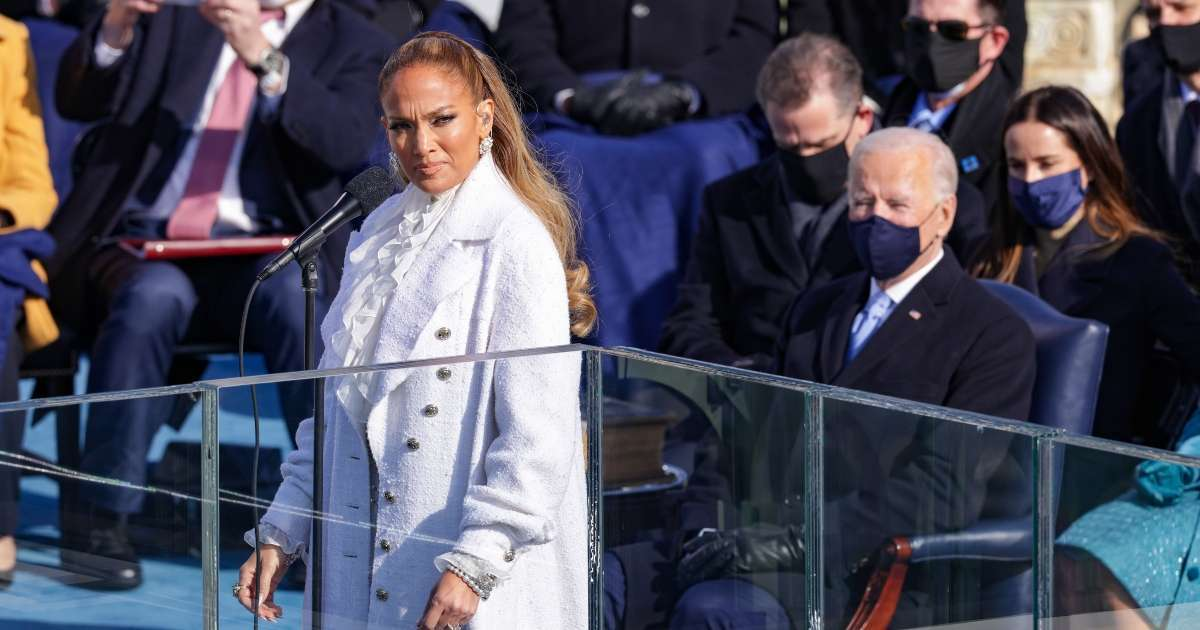 Inauguration 2021 Jennifer Lopez spirted response This is Your Land performance