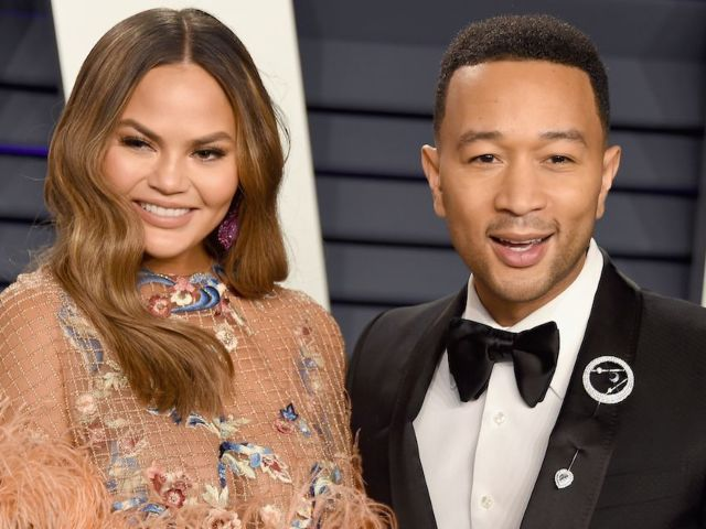 Chrissy Teigen and John Legend Pose With Soldiers Ahead of Inauguration