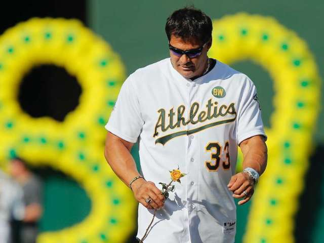 Jose Canseco Goes Down Quick in Boxing Match vs Billy Football