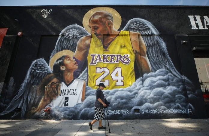 Kobe Bryant Gianna mural Los Angeles