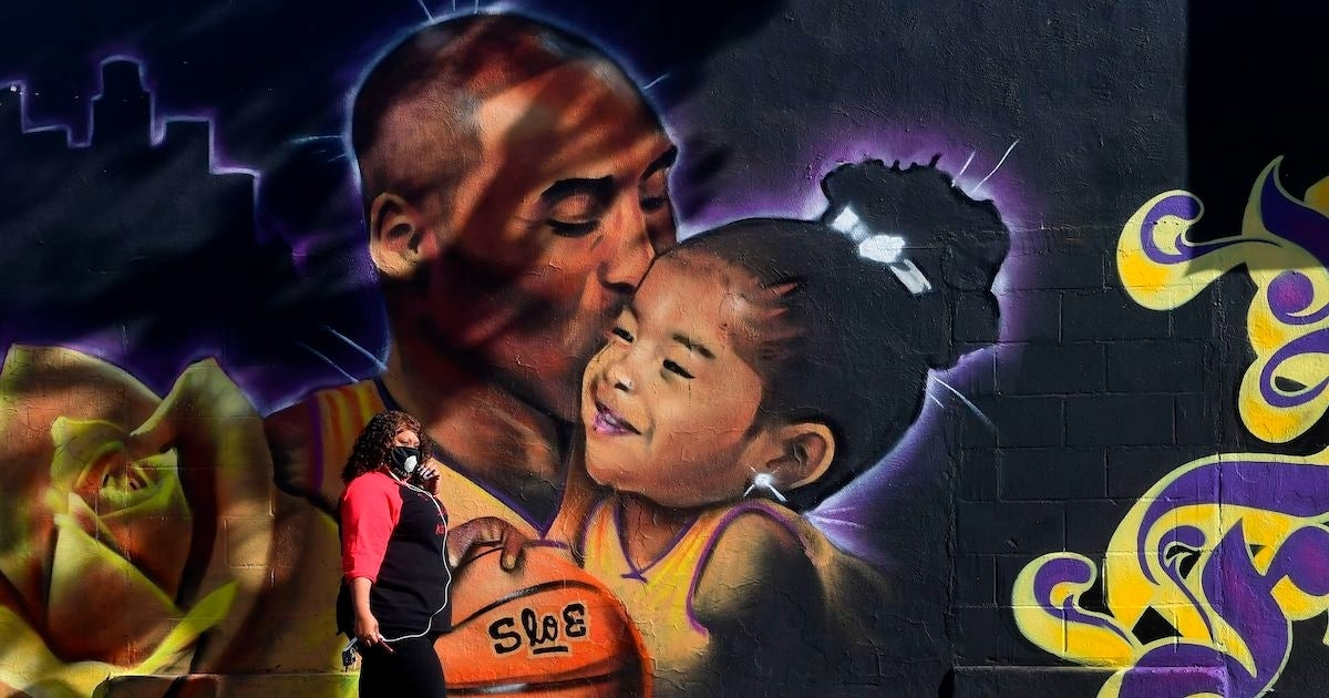 Kobe Bryant Gigi mural Los Angeles
