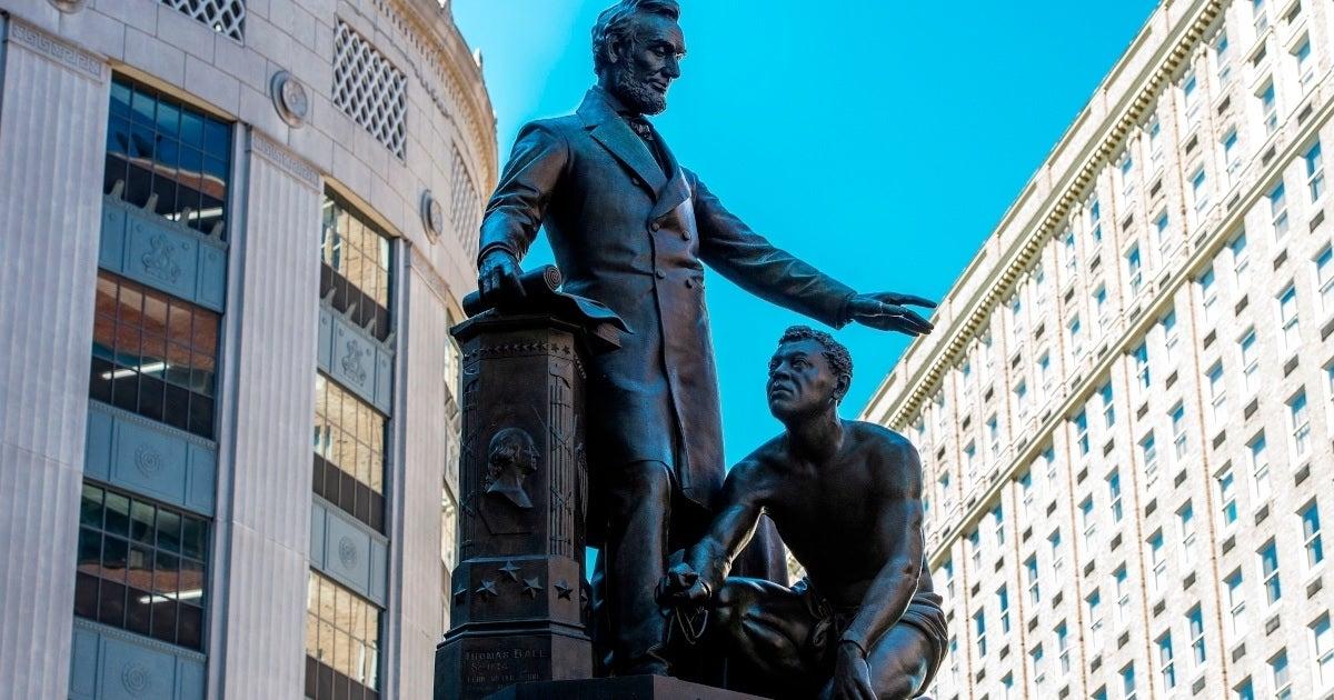 lincoln emancipation boston statue getty images