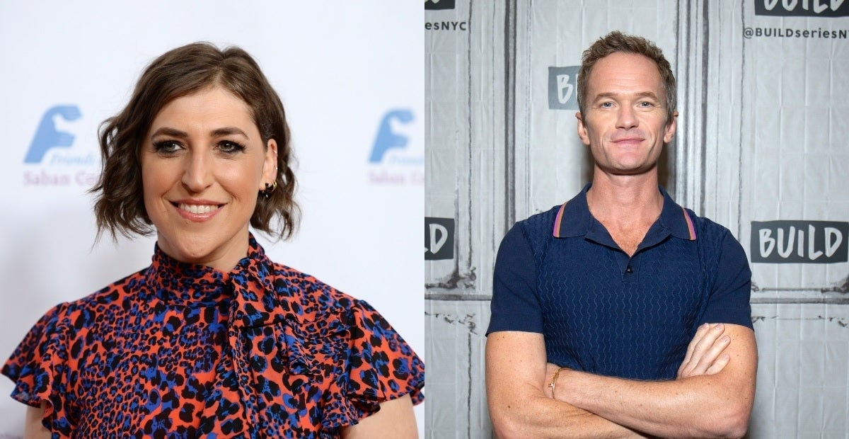 mayim bialik neil patrick harris getty images
