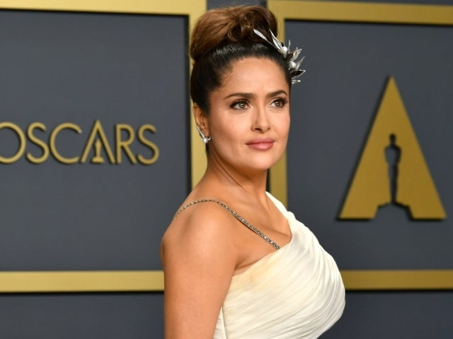 Salma Hayek Hilariously Imitates Her Dog in Post-Swim Shake-Off