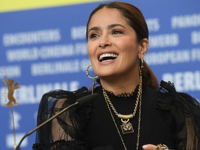 Salma Hayek Goes Green in Dressy New Snap to Celebrate Instagram Milestone