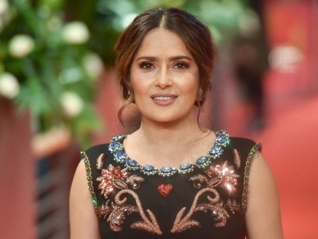 Salma Hayek Rings in 2021 Agelessly With First Swimsuit Photo of the Year