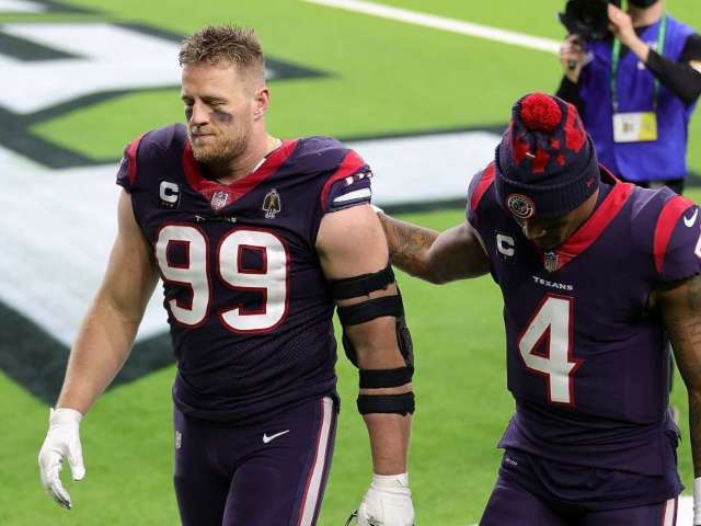 Watch: Texans' JJ Watt Apologizes to Deshaun Watson for 'Wasting' 2020 Season