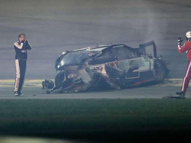 Daytona 500: Brad Keselowski Smashes Helmet After Explosive Crash