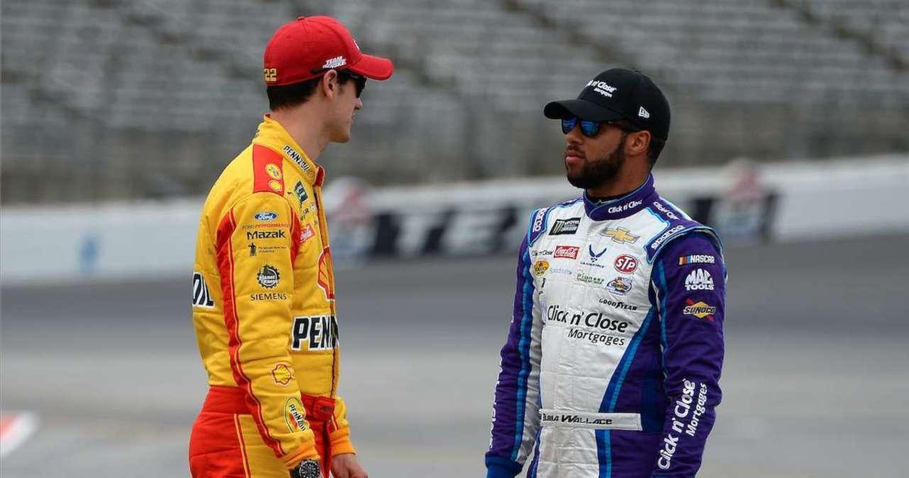 NASCAR: Bubba Wallace Pokes Fun at Joey Logano After Xfinity Series Wreck.jpg