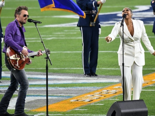 Watch Eric Church and Jazmine Sullivan Perform the National Anthem at Super Bowl LV
