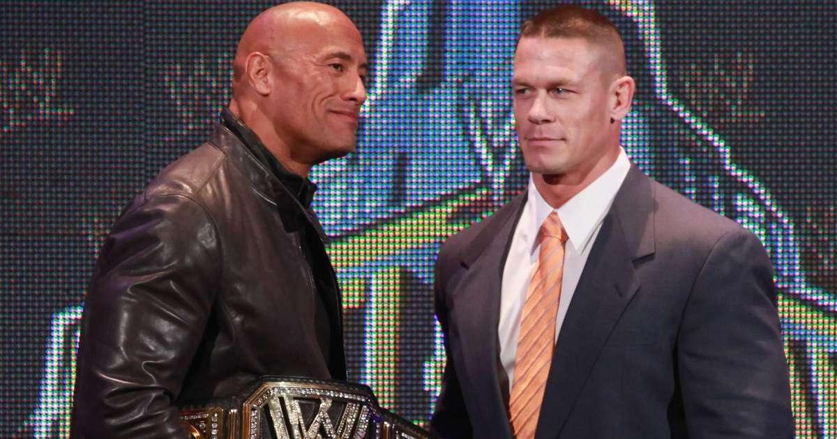 John Cena has issues losing Dwayne Johnson the rock WWE WrestleMania 28