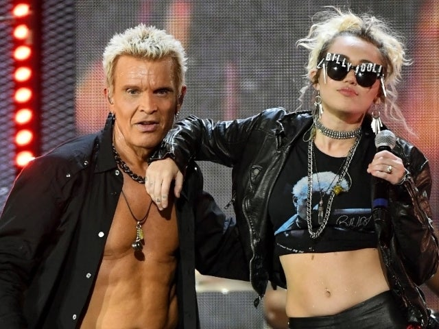 Miley Cyrus and Billy Idol Reunite for Super Bowl Pre-Game 'Night Crawling' Performance