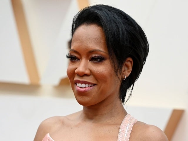 Regina King's Dog Was Clearly Not Bothered by 2021 Golden Globes Red Carpet
