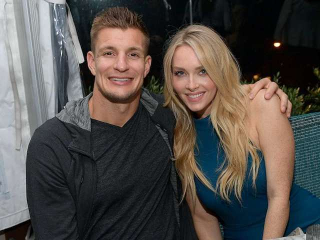 Rob Gronkowski and Girlfriend Camille Kostek Share Kiss on Field After Super Bowl Win: 'Tastes Like a Champion'